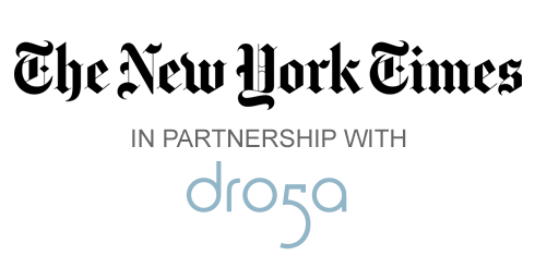 New York Times with Droga5 logo